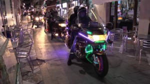 Las espectaculares motos Goldwin animan el fin de semana en Chipiona