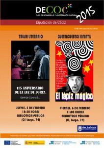 Un taller literario sobre Lorca y una actividad de cuentacuentos cierra el DECOC 2014 con un total de 21 actividades