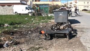 La colaboración ciudadana permite que la Policía Local  detenga a un individuo por la quema de nueve contenedores
