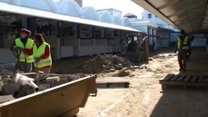 Concluye la segunda fase de la sustitución del suelo de la Plaza de Abastos de Chipiona
