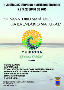 """Publicado el programa de las segundas jornadas """"Chipiona, Balneario Natural"""""""