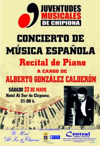 Juventudes Musicales ofrece el sábado 23 una recital de piano de Alberto González Calderón