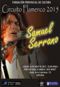 Ayuntamiento y Diputación de Cádiz traen el 16 de mayo el cante emergente de Samuel Serrano a la Peña José Mercé