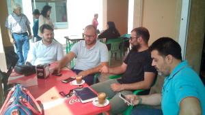 """NNGG mantiene un encuentro con la directiva del festival """"Al rumbo"""" para solicitar beneficios para los jóvenes chipioneros en el festival."""