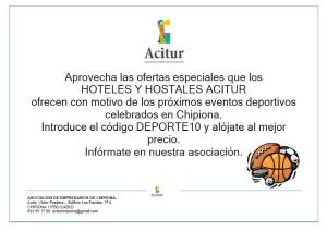 Ayuntamiento y Acitur promueven descuentos en hoteles y hostales a quienes visitan Chipiona para eventos deportivos