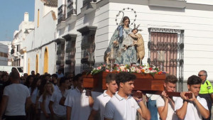 Chipiona ha vivido hoy la procesión de la Divina Pastora