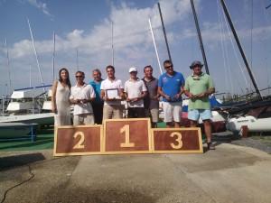 Diecinueve participantes en el campeonato de Andalucía de Patín a Vela que se celebró el pasado fin de semana en Chipiona.
