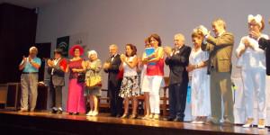 Alumnos de Centros de Educación de Adultos de la comarca disfrutan con la obra de teatro del cuadro de actores de El Gastor.-