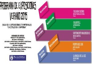 Cinco exposiciones de pintura componen el programa de exposiciones del Castillo para el verano de 2015