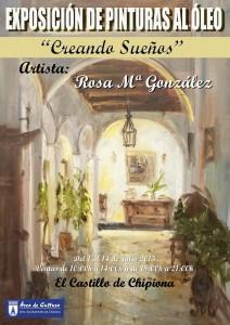 """La exposición """"Creando Sueños"""" de Rosa María González Sierra abrirá el mes de julio en el Castillo."""