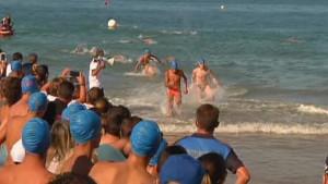 La Travesía Picoco-Playa de Regla cumple este sábado diez años en los que ha crecido hasta los doscientos participantes
