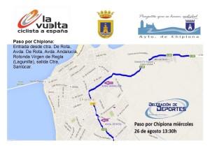 La Vuelta a España pasará por Chipiona el 26 de agosto próximo