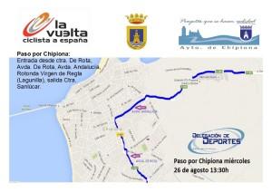 La Policía Local prohibirá el miércoles 26 el aparcamiento en el recorrido de la Vuelta a España por Chipiona