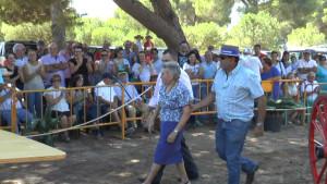 María Regla Cruces homenajeada en la edición de la Fiesta de la Palmicha que se celebró ayer