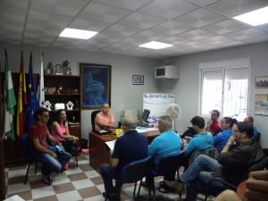 Isabel Jurado se reúne con los clubes deportivos para darles a conocer la convocatoria de subvenciones