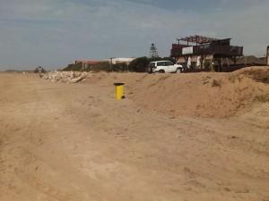 El grupo CANS denuncia la destrucción del sistema dunar delante del chiringuito Moustaky Nuevo Arroyo Hondo
