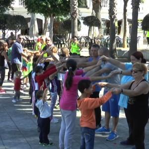 Un animado taller pone el broche final al programa de promoción del deporte en familia