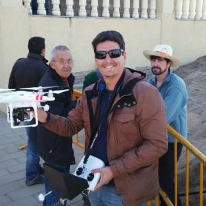 El arqueólogo Ernesto Toboso pone un dron a disposición de la actuación que se realiza junto al Santuario de Regla