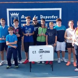 Concluye la primera liga cadete de tenis por parejas