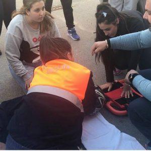 Veinticinco voluntarios de Protección Civil de Chipiona participan en el simulacro que culmina el curso de formación continua en socorrismo