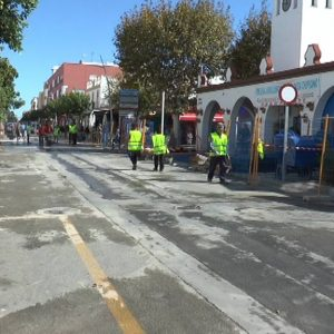 Comienza la segunda fase de la peatonalización de Víctor Pradera que concluirá antes del próximo verano.
