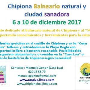 'Chipiona balneario y ciudad sanadora' ofrece actividades del 6 al 10 de diciembre