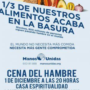 Manos Unidas llama a la solidaridad con la 'Cena del hambre' que tendrá lugar hoy 1 de diciembre