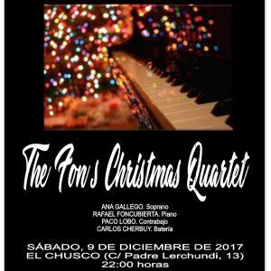 La Delegación de Cultura ofrece en El Chusco un concierto de jazz navideño con The Fon's Christmas Quartet