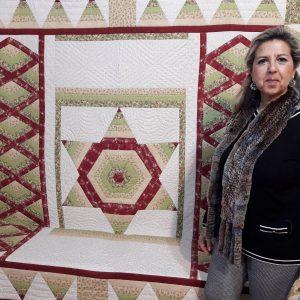 El Chusco se llena de color con la muestra de patchwork de Consuelo Medina