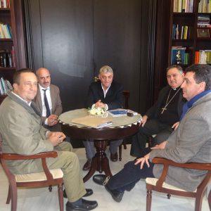 La Asociación de profesionales para los retos del tercer milenio se reúnen con el obispo de la diócesis de Asidonia-Jerez