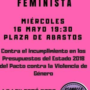 La Asamblea feminista se concentrará para exigir el cumplimiento del presupuesto del Pacto de Estado contra la violencia de género