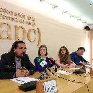 Fernando Macías Ana Fernández Noelia Vera y Juan Antonio Delgado (de izqda. a derecha) durante la presentación de las enmiendas (4)