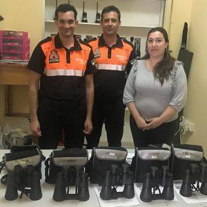 Protección Civil contará con cinco nuevos prismáticos para prestar el servicio de vigilancia en las playas de Chipiona