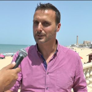 Javier Díaz anuncia las actuaciones para la regeneración de las playas de Chipiona por parte de Demarcación de Costas