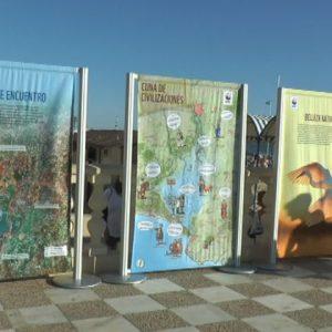 La exposición 'Entremareas' hace ver desde ayer en Chipiona la importancia del estuario del Guadalquivir