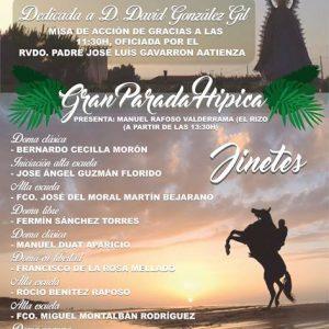 La Hermandad del Pinar dedica este año la Fiesta de la Palmicha al jinete David González Gil