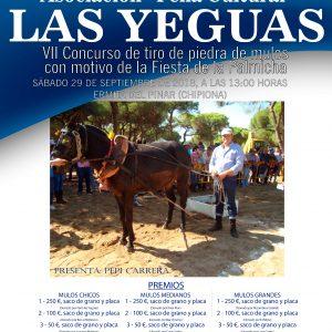 La Asociación Las Yeguas convoca a la afición ecuestre este  sábado a su séptimo Concurso de tiro de piedra de mulos