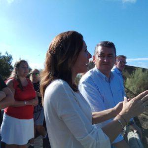 Antonio Sanz visita la zona del incendio y anuncia que el PP presentará iniciativas a todas las administraciones para su recuperación