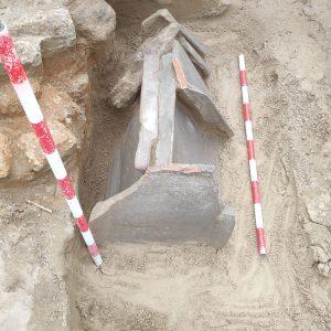 La aparición de una serie de tumbas confirman la existencia de una necrópolis cristiana en la excavación arqueológica del Humilladero.