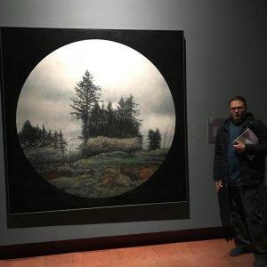 Una obra de Bartolomé Junquero en la exposición Cielo-Tierra, de fondos del Museo Infanta Elena, que se ofrece en Toledo