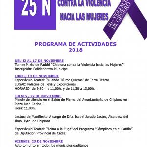 En marcha el programa conmemorativo con motivo del Día Contra la Violencia hacia las Mujeres que comenzó ayer con un torneo de padel mixto