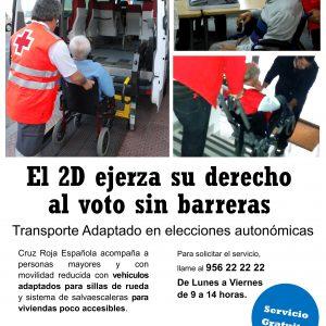 cartel transporte adaptado elecciones autonómicas