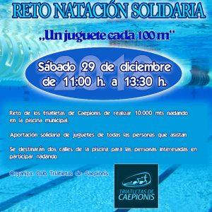 La piscina municipal de Chipiona acoge el sábado 29 de diciembre una jornada de natación solidaria para recoger juguetes