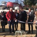 Isabel Jurado asiste a la colocación de la primera piedra de los dos nuevos centros proyectados por Afanas en Sanlúcar