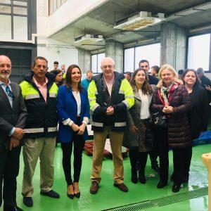 El viceconsejero de Fomento visita las instalaciones deportivas y pesqueras de Chipiona