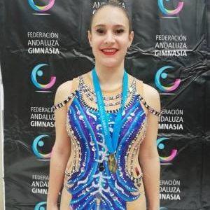 Elena Moreno La O se clasifica para el Campeonato de España de gimnasia rítmica individual tras lograr un tercer puesto en el andaluz
