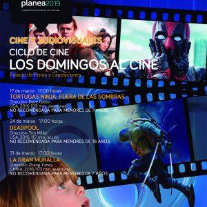 Un ciclo de cine de aventuras los domingos para los más jóvenes completa la oferta cultural municipal de marzo