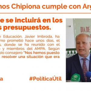 Ciudadanos y Javier Imbroda muestran su firme compromiso con Chipiona al asegurar la construcción de la 2ª Fase de Argonautas.