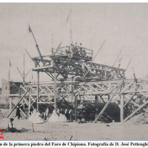 Colocación de la primera piedra del Faro de Chipiona