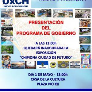 Unidos por Chipiona  presentará el próximo 1 de mayo su programa de gobierno a las 13 horas en la Casa de la Cultura